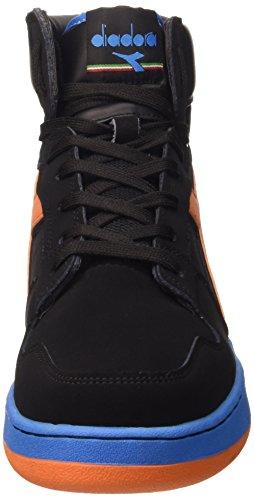 Diadora Unisex Adults' Basket 80 N Shoes Schwarz - Noir/Arancio Tropicale