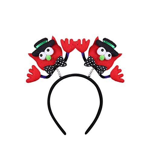 rty Requisiten Kürbis Fledermaus Hexe Halloween GlüHen Kopf Schnalle Halloween Led Kürbis Schädel Licht Party Requisiten Stirnbänder Anzieh Accessoires ()