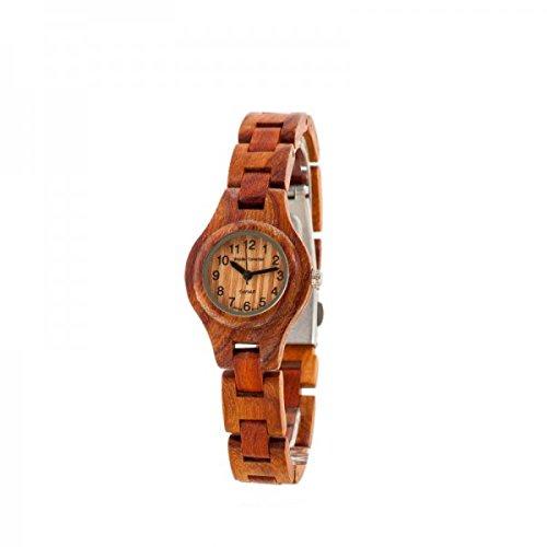 Holzuhr TENSE Womens Pacific Premium Damen-Uhr L7509R - Natürliches Rosenholz L7509R
