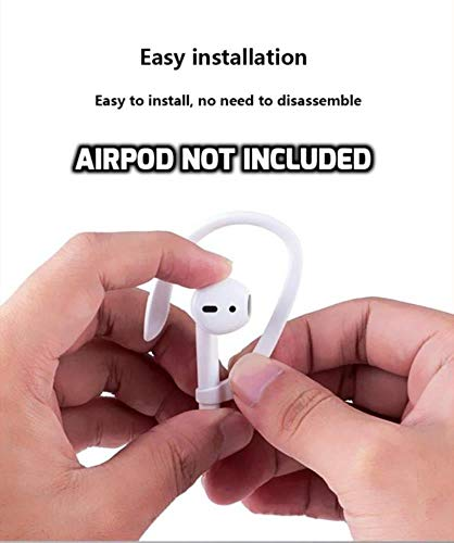 DEALPICK Protective Earhooks Holder Secure Fit Hooks for Airpods Apple Wireless Earphone Accessories White Image 5