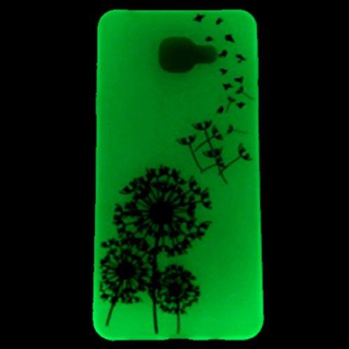 iPhone 6S Plus Hülle, iPhone 6 Plus Silikon Hülle, iPhone 6S Plus TPU Noctilucent Tasche Handyhülle [Kratzfeste, Scratch-Resistant], iPhone 6 Plus Gel Bumper Case Weiches Schutzhülle [Leuchtende Nacht Fliegen Löwenzahn