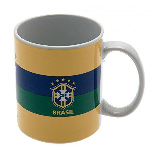 Officiel style de la maison CBF BRESIL jaune tasse en céramique