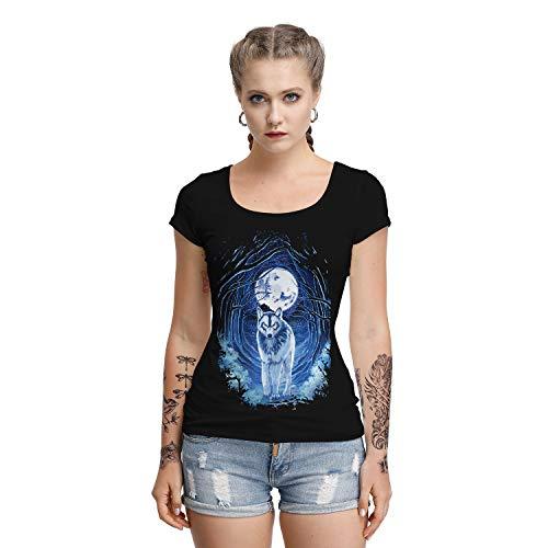 XUDSJ Halloween,Lack Kleid,hexenkostüm, Halloween Party Kostüme Digital Print Damen Kurzarm T-Shirt Slim was Thin U-Ausschnitt Top Adult Kostüm (Color : BSTA001, Size : (Top Adult Kostüm)