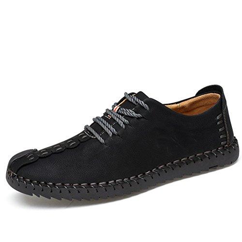 Uomo pelle scarpe stringate basse oxford uomo scarpe stringate basse mocassini uomo per affari scarpa casual nero eu41