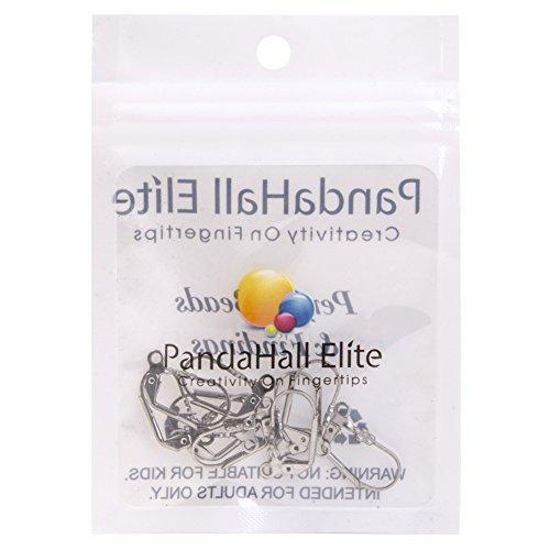 PandaHall Elite- 1 Sac/20pcs Acier inoxydable Composants Dormeuses Crochet Boucles d'Oreilles 13x10.5mm Crochet d'Oreilles Acier inoxydable -7
