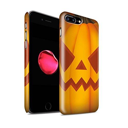 STUFF4 Matte Snap-On Hülle / Case für Apple iPhone 8 Plus / Traurig Muster / Halloween Kürbis Kollektion Böse