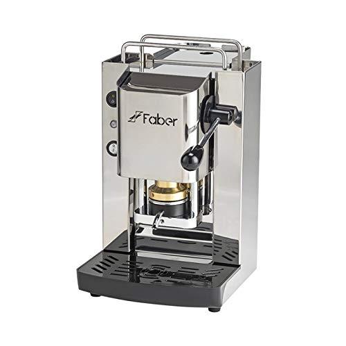Kaffeemaschine Faber Slot Total, aus Edelstahl mit Pads aus ESE-Papier, 44 mm