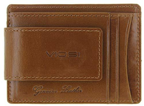 Viosi Echtes Kingston Leder magnetische Vordertasche Geldklammer mit starken seltenen Erden Magneten - -