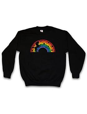 UNICORN II SWEATSHIRT – unicornio Arco iris Rainbow Colors arcoíris Fairy Fairies The Last Cartoon Rockabella...