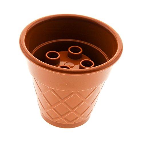 1 x Lego Duplo Nahrung EIS Waffel dunkel orange braun Kegel Tüte Becher für Set Cafe Cupcake EIS Kaffee Kuchen 10840 45013 10862 10574 6056589 15577 (Duplo Lego-sets Eis)