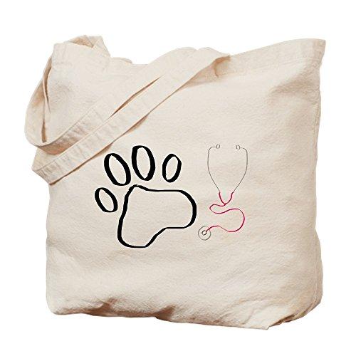 CafePress-vet Tech Paw Print + Stethoskop-Leinwand Natur Tasche, Reinigungstuch Einkaufstasche, canvas, khaki, M -