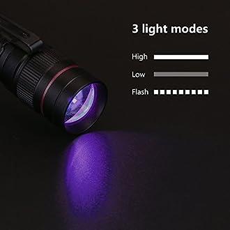 zur Fluoreszenz-Erkennung//Prüfung Lindner S7189 UV-Taschenlampe mit 9 UV-LEDs