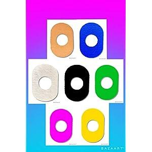 41J3EcWiQBL. SS300  - FixTape atmungsaktives Sensor-Tape für Freestyle Libre 1 & 2 I selbstklebendes Patch mit Loch für Glukose-Sensor I besonders hautfreundlich und wasserfest in modernen Designs I 7 Stück