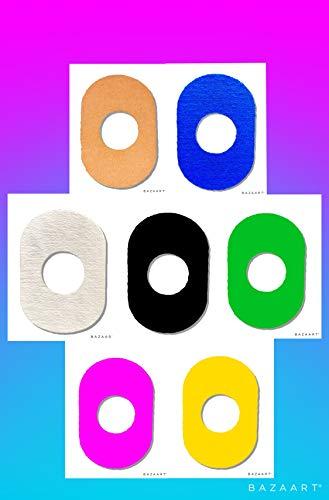 41J3EcWiQBL - FixTape atmungsaktives Sensor-Tape für Freestyle Libre 1 & 2 I selbstklebendes Patch mit Loch für Glukose-Sensor I besonders hautfreundlich und wasserfest in modernen Designs I 7 Stück