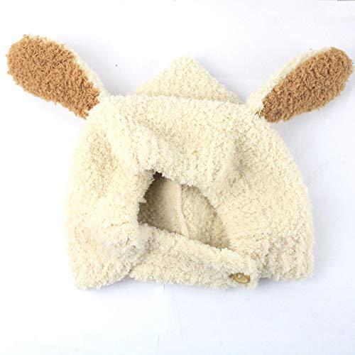 Easy Go Shopping Bestknit bébé Filles Pompon Chapeau Props Crochet Tricoté Pom Pom Chapeau Bonnet Earflap Beanie Chaud Automne Hiver (Couleur : Blanc)