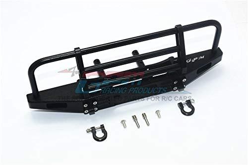G.P.M. Traxxas TRX-4 Defender / TRX-4 Tactical Unit / Axial SCX10 II Tuning Teile Aluminum Adjustable Front Brushguard Bumper - 1 Set Black -