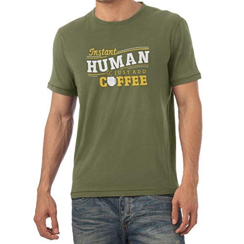 TEXLAB - Instant Human - Herren T-Shirt, Größe M, oliv