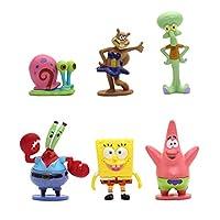 SpongeBob SquarePants Cake Topper Set Miniature Garden Ornament Figures 6pcs