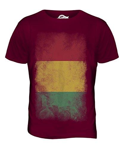 CandyMix Guinea Verblichen Flagge Herren T Shirt Burgunderrot