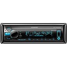 Kenwood Electronics KDC-X5000BT 200W Bluetooth Negro receptor multimedia para coche - Radio para coche (AM,FM,LW,MW, 87,5 - 108 MHz, 153 - 279 kHz, 24 Bit, LCD, Rojo)