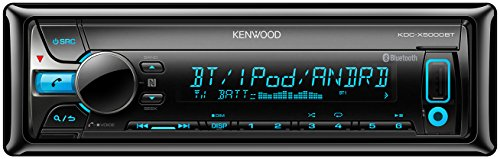 Kenwood KDC-X5000BT Autoradio USB/CD-Receiver mit Bluetooth und A2DP, Apple iPod-Steuerung schwarz Apple Bluetooth-telefon