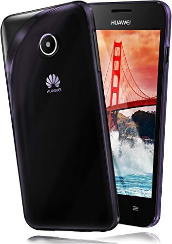 moex Huawei Ascend Y300 | Hülle Silikon Transparent Lila Clear Back-Cover TPU Schutzhülle Dünn Handyhülle für Huawei Y300 Case Ultra-Slim Silikonhülle Rückseite