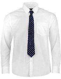 Chemise avec Cravate PIERRE CARDIN pour Homme Neuve Blanche Bleue ou Grise Unie