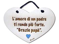 Idea Regalo - Dacl'Art Targa in Legno L'Amore di Un Padre Grazie papà cup-04 Made in Italy