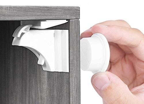Babysicherheit Magnetisches Schrankschloss 20 Schlösser mit 3 Schlüssel, unsichtbare Kindersicherung für Schrank und Schubladen, ohne Bohren und Schrauben - Norjews