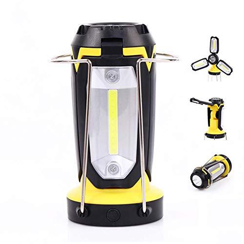 EA-Miao Mehrzweck Camping Licht Cob Laterne Zelt tragbare Licht USB wiederaufladbare Taschenlampe Tischlampe DREI-in-One Outdoor,Yellow - 3-licht Im Freien Hängeleuchte Laterne