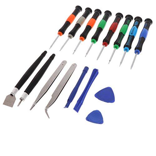 Homyl 16er Set Werkzeug Reparatursatz Schraubendreher Set Öffnungswerkzeuge für iPad, iPhone Handys (Öffnung Ellenbogen)