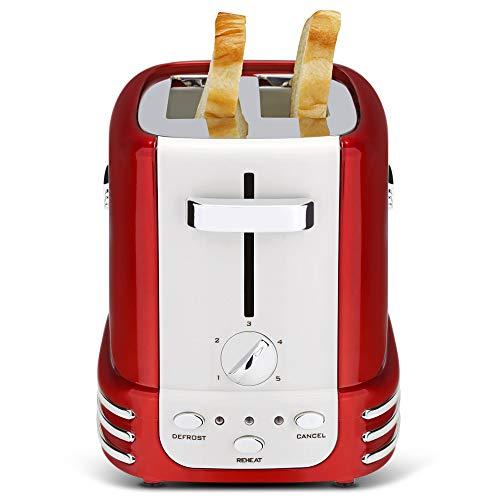 FUHUANGYB Frühstücksbrettchen in Zwei Teilen, abnehmbar, automatisch, Pop-Up-Desgin 650 W auf fünf Heizstufen