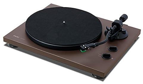 TEAC 400Bt de Mt Hi-Fi Tourne-disque (Courroie d'entraînement avec 3vitesses de lecture/Dac/Port USB/Bluetooth audiostraming) Mat Marron