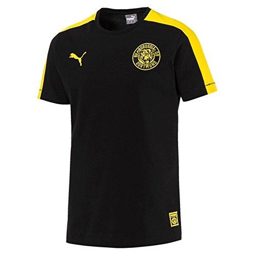 PUMA Herren BVB T7 Tee T-Shirt, Black, L