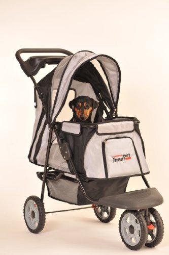 "InnoPet Hundebuggy Hundewagen schwarz Pet Stroller ""All Terrain"" klassisch Buggy für Hunde"