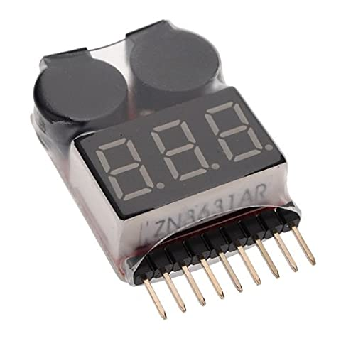 XT-XINTE 1S-8S Lipo Batterie Tension Faible Test VOLTMETRE testeur tester monitor Buzzer Alarme indicateur
