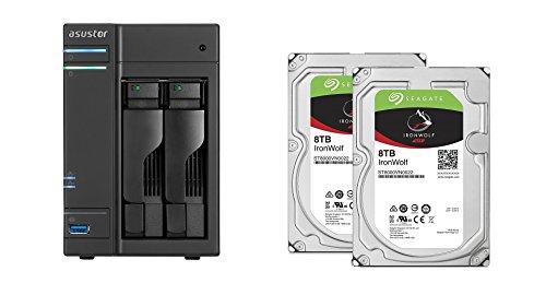 Set bestehend aus zwei Seagate Ironwolf 8 TB NAS optimierten Festplatten mit IHM Technik & Asustor NAS AS6102T