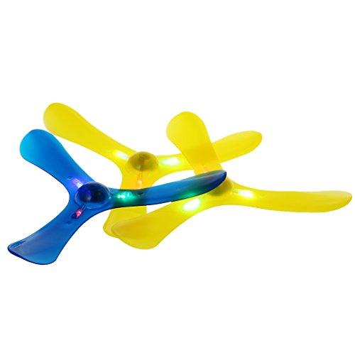 Lamdoo LED-Licht mit 3 Blättern, Boomerang, für den Außenbereich, lustiges Spielzeug, Sport, Wurfspielzeug