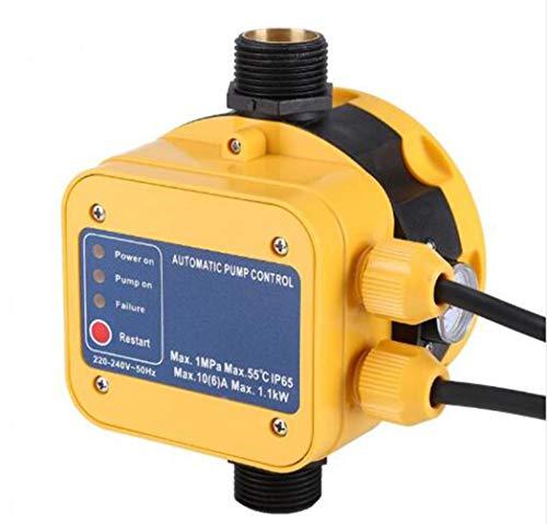 enoche Controlador de presión Bomba de Agua Regulador de presión para electrobomba 220 V presscontrol presostato domestica con Gauge casa Accesorio