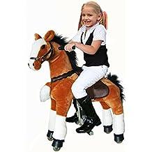UFREE Medio Action Pony, Pony da montare, Cavallo a dondolo mobile, Da Cavalcare, Pony mobile per bambini di 3-9 anni(Altezza 36'', Mantello