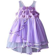 49982a98d05 Moneycom Enfant en Bas âge Bébé Filles Vêtements sans Manches Paillettes  Robe de Princesse de Tulle