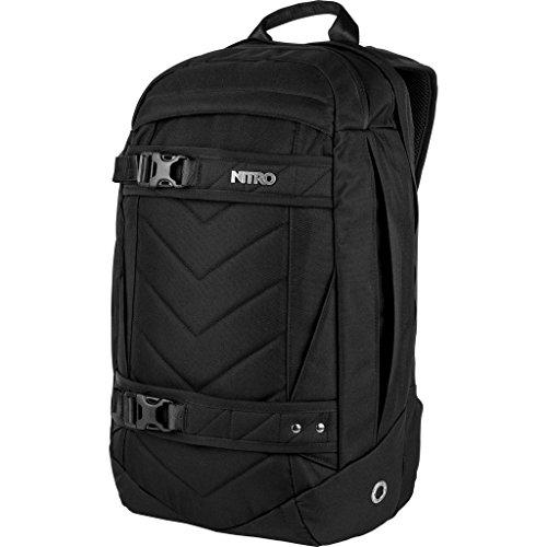 Nitro Aerial Rucksack, Multifunktionsrucksack, Schulrucksack, Daypack, Schoolbag, Sportrucksack, Rucksack mit Tragesystem für Skateboards, (Mini-board-kamera)
