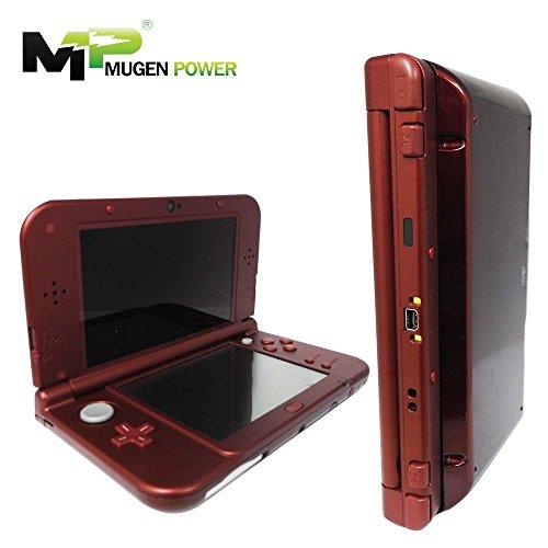 Mugen Power - Neuer Nintendo 3DSLL (Japan) / 3DSXL (USA & Europa) 6250mAh Verlängerter Akku 8-12 Spielzeit ohne Spielkonsole 1 Jahr Garantie (New Red - Japan Cover Phone