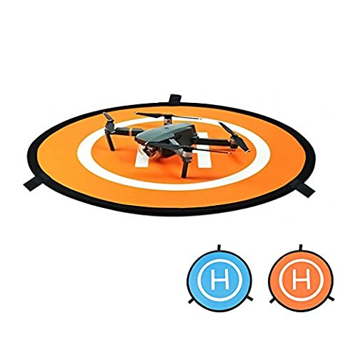 OTraki Drone Landing Pad Fast-fold and Waterproof Helipad 3 Landing Nails 8 Reflective Strips Drone Pad for DJI Phantom 4,Inspire, DJI Mavic Pro, DJI Spark