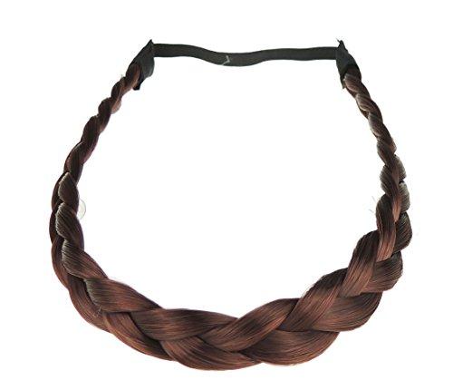 Damen Kunsthaar elastisches Haarband geflochten Verlängerung