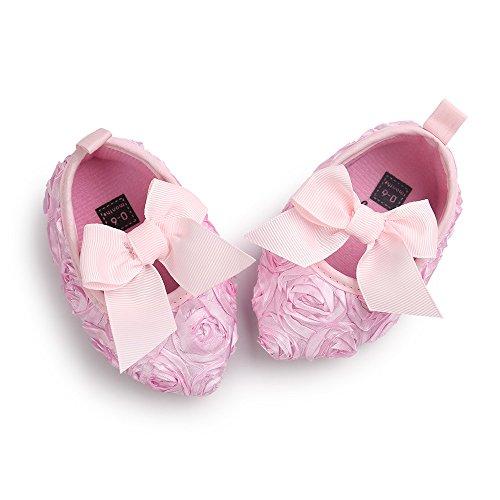 12 Rose 18 Estamico Mädchen Baby Lauflernschuhe Rosa Monate w1aqXH