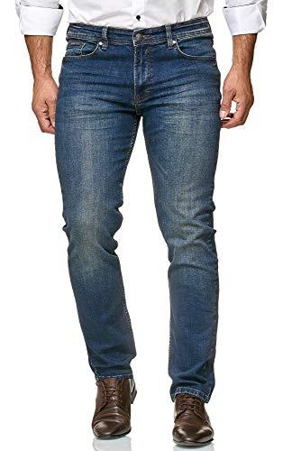 Barbons Herren Jeans - Einführungspreis - Bügelleicht - Modern-Fit Stretch  - Business Freizeit - Hochwertige Jeans-Hose 01-Navy 33W   34L d3b41da54e