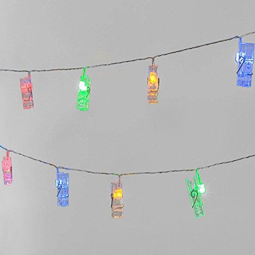 3 metri 20 LED Luce natalizia con clips di visualizzazione foto, Alimentato via USB, Cancella cavo, Decorazione della parete interna (RGB)