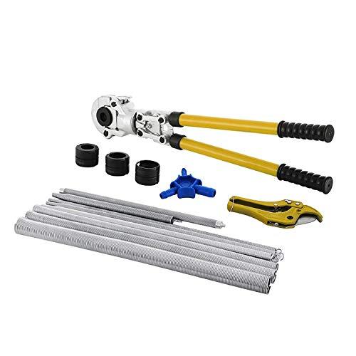FlowerW Zange Crimpzange 16-32mm Presse Verbundzange PEX PE-X Crimpzange Zange Crinpping Werkzeug mit Kalibratoren und Biegefedern (CW-1632 Set)