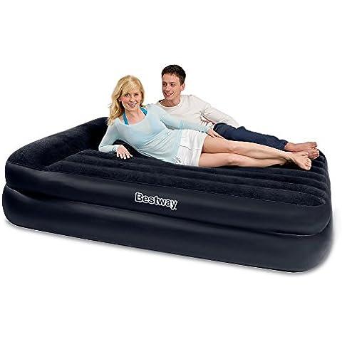 Nueva Bestway Inflable Flocado Premium Comfort Quest Queen Size cama de aire con bomba eléctrica incorporada de almohada de integrado 220/240V Bolsa de viaje Heavy Duty Repair Patch